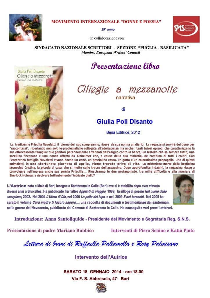 Presentazione libro di G. Poli Disanto