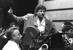 Roman Polanski and crew on the set of Frantic, 1998