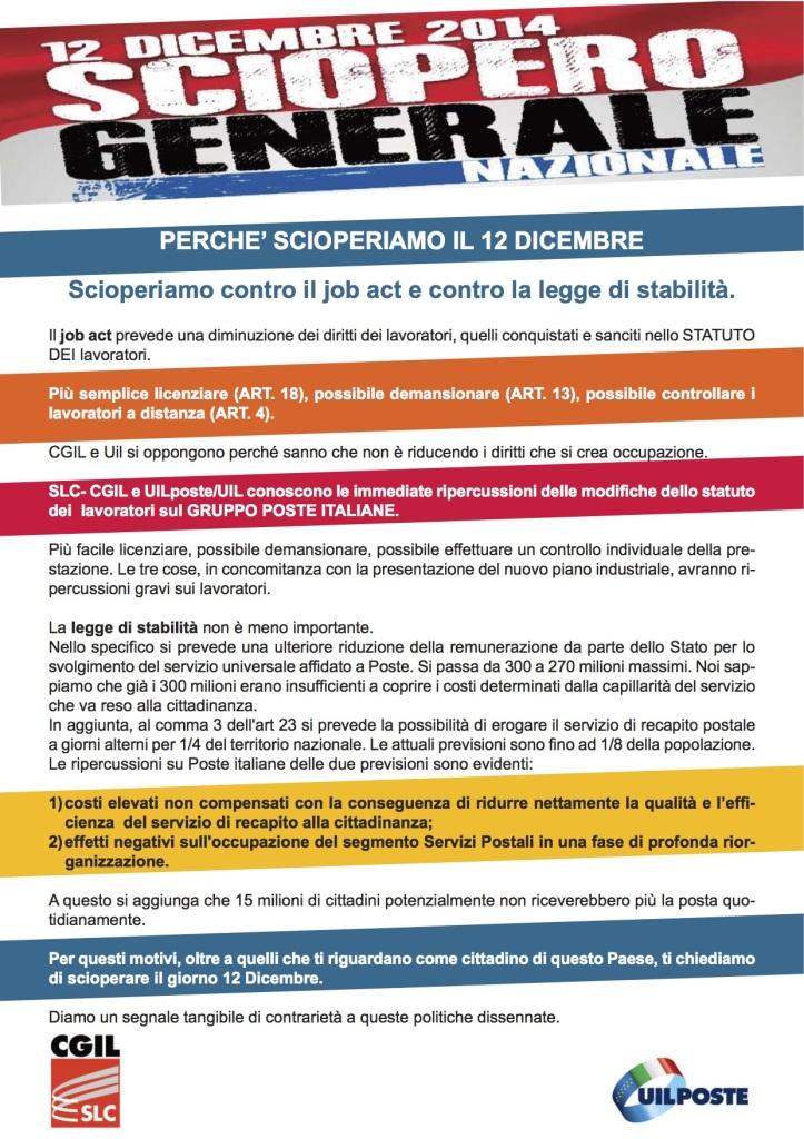 Locandina UIL CGIL Sciopero_Generale